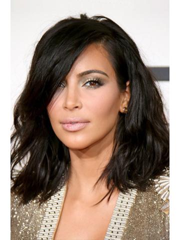 Kim Kardashian Inspired Brazilian Virgin Hair Wavy Bob Cut Lace Wig[BCT01]