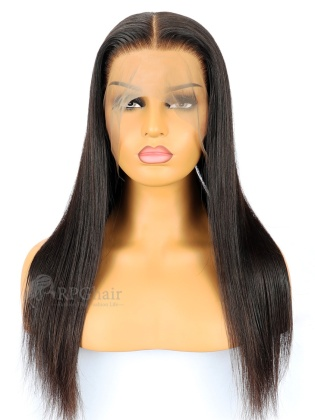 Silky Straight Virgin Brazilian Hair Full Lace Wigs