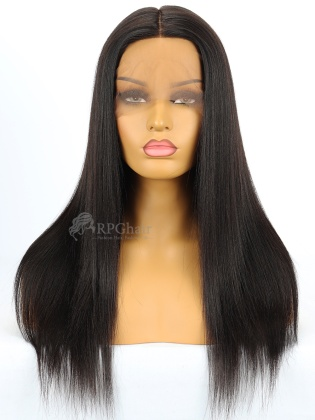 Silk Top 360 Lace Wig Yaki Straight Indian Remy Hair[LFW33D]