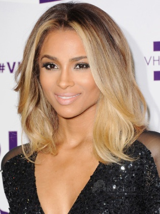 Ciara Ombre Color Virgin Brazilian Hair Glueless Lace Front Wigs