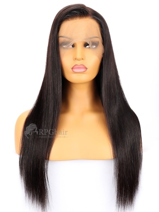 Big Density 360 Lace Frontal Wigs Silky Straight Indian Remy Hair