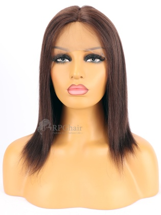 2# 130% Density Yaki Straight  Indian Remy Hair Glueless Lace Front Wig[RFS03]