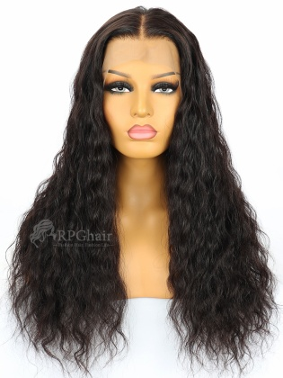 Pretty Big Curly Hair Glueless Lace Front Wigs Indian Remy  Hair[LFW04]