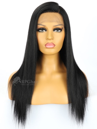 1# 18in Yaki Straight Indian Remy Hair Glueless Full Lace Wig [RFS329]