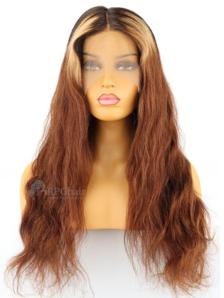 180% Density Ombre  Color 360 Lace Wigs Big Wave Indian Remy Hair [RFS60]