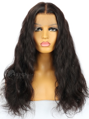 Slight Wavy Indian Remy Hair Glueless Lace Front Wigs[LFW03]
