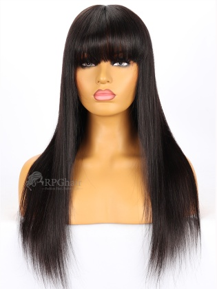 Nicki Minaj Inspired Silky Straight Indian Remy Hair With Bang Glueless Lace Front Wigs[LFW42]