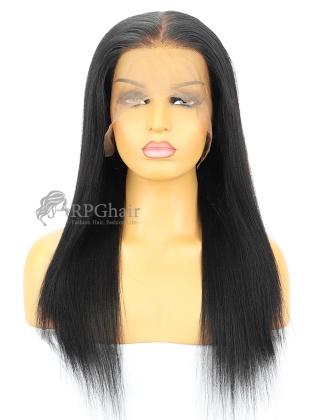 Small Size: 1# 12&18in Yaki Straight Brazilian Virgin Hair 360 Lace Frontal Wig [RFS116]