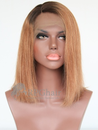 Ombre Silky Straight BOB Style Lace Front Wigs Indian Remy Hair[BCT05]
