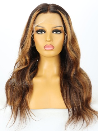 5.5'' Part 180% Density Ombre Highlights Wavy Style Lace Front Wigs [LFW92]