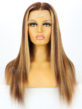 5.5'' Part 180% Density #4/27 Blonde Silky Straight Lace Front Wigs [LFW427]