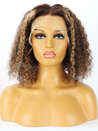 150% Density Ombre Highlights Curly BOB Style Lace Wigs [BOB39]