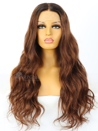5.5'' Part 180% Density Ombre Color Slight Wavy Lace Front Wig[RCW07]