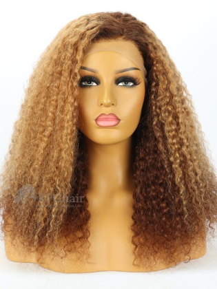 5.5'' Part 180% Density Ombre Curly Style Lace Front Wigs [LFW94]