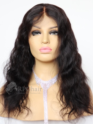 "6"" Parting Lace Front Wig Slight Wavy Indian Remy Hair[FSW65]"