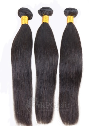 Yaki Brazilian Virgin Hair 3 Bundles Natural Color