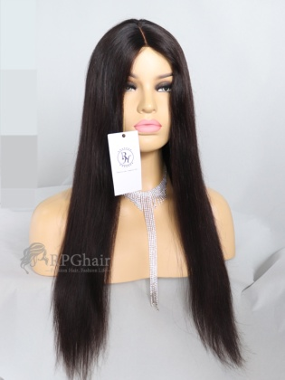 20in 130% Density Silky Straight Indian Remy Hair Machine Weft Made Wig[RFS11]