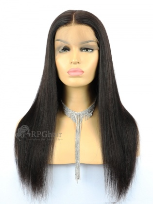 180% Density Yaki Straight Indian Remy Hair 360 Lace Wigs [RFS33C]