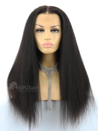 """6"""" Parting Lace Front Wig Kinky Straight Indian Remy Hair[FSW68]"""