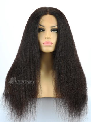 130% Desnity Silk Top 360 Lace Wig Kinky Straight Indian Remy Hair[LFW30C]