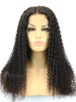 """6"""" Parting Lace Front Wig Kinky Curl Indian Remy Hair[FSW66]"""