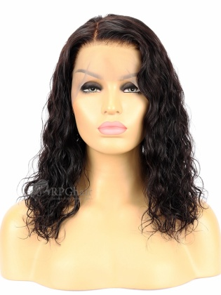150% Density Loose Wavy Bob Hairstyle Indian Remy Hair Glueless Lace Front Wigs [LFW41]