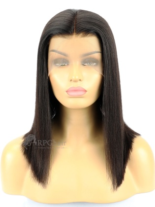 Yaki Straight Bob Brazilian Virgin Hair 150% Density Lace Front Wig [LFW49]