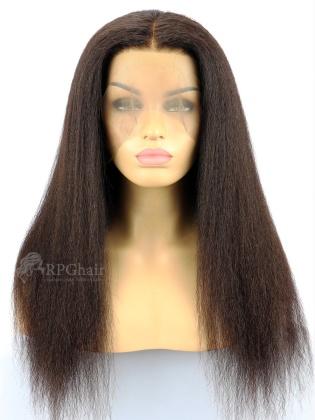 130% Density Pre-Plucked 360 Lace Frontal Wig Kinky Straight Brazilian Virgin hair[LFW45]