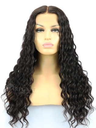 Deep Wave Indian Remy Human Hair Glueless Lace Front Wigs