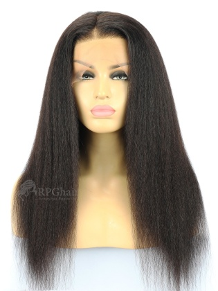 Kinky Straight Indian Remy Human Hair Full Lace Wigs[FLW06]