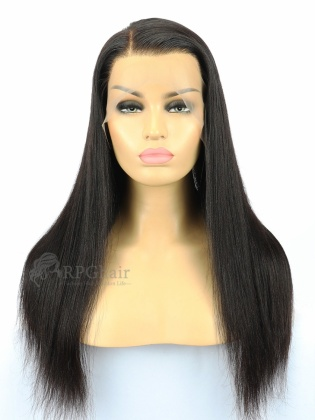 Light Yaki Indian Remy Human Hair Full Lace Wigs