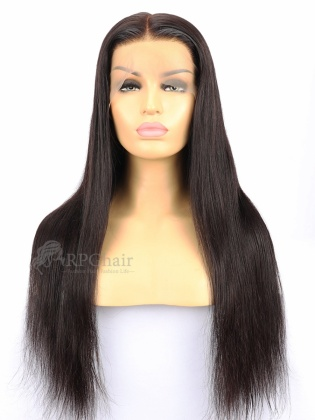 Silky Straight Indian Remy Human Hair Full Lace Wigs