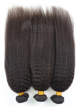Kinky Straight Brazilian Virgin Hair 3 Bundles Natural Color[BW19]