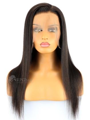 Brazilian Virgin Hair Yaki Straight Lace Front Wigs [LFW72P]