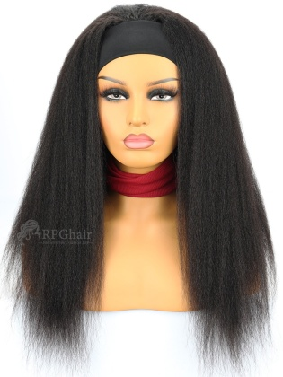 1B# Color Headband Wigs Kinky Straight Indian Remy Hair [HBW06]