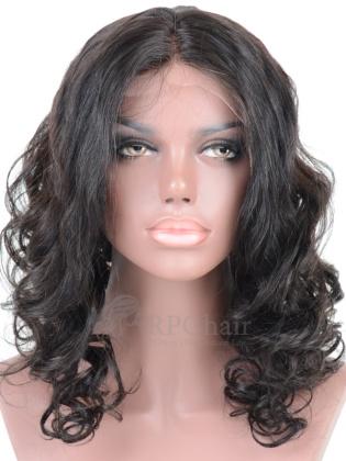 Loose Curl Virgin Brazilian Hair Glueless Lace Front Wigs