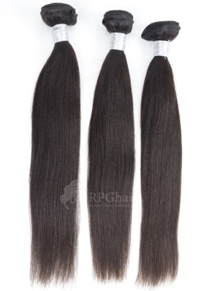 Yaki Indian Virgin Hair 3 Bundles Natural Color