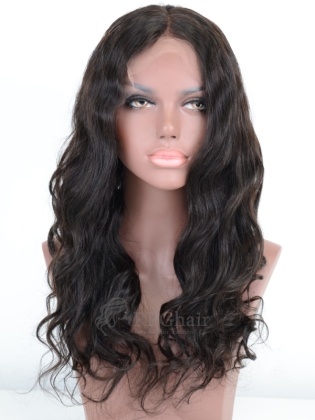 Big Wave Indian Remy Human Hair Full Lace Wigs