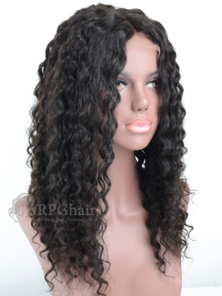 Virgin Brazilian Hair Deep Wave Full Lace Wigs