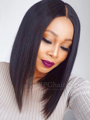 Yaki BOB Hair Style with 150% Density Indain Remy Hair Glueless Lace Wigs