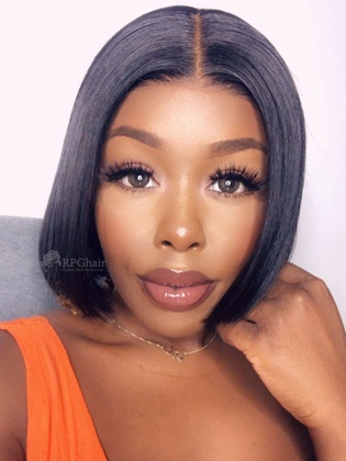 Pre-bleached Silky Straight BoB Hairstyle Lace Front Wig [BOB08]
