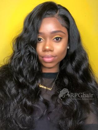 Pre-Plucked 360 Frontal Wigs Big Density Body Wave Brazilian Virgin Hair [LFW39]
