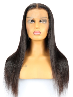 Pre-Plucked 360 Lace Frontal Wig Silky Straight Brazilian Virgin hair 130% Density[LFW46]