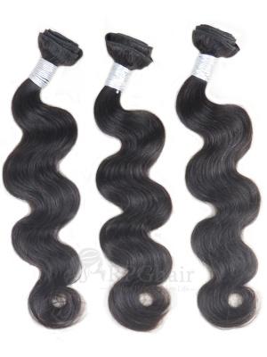 Body Wave Indian Virgin Hair 3 Bundles Natural Color
