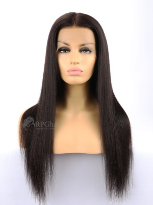 360 Lace Frontal Wigs Big Density Yaki Straight Brazilian Virgin Human Hair[LFW40]