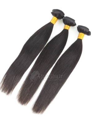 Silky Straight Brazilian Virgin Hair 3 Bundles Natural Color[BW03]