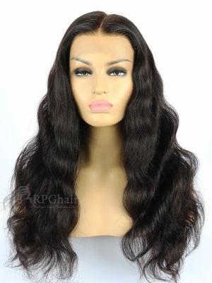 Indian Remy Human Hair Glueless Lace Front Wig Body Wave Hair