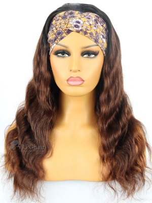Headband Wigs Ombre Natural Wavy Indian Remy Hair [HBW60]