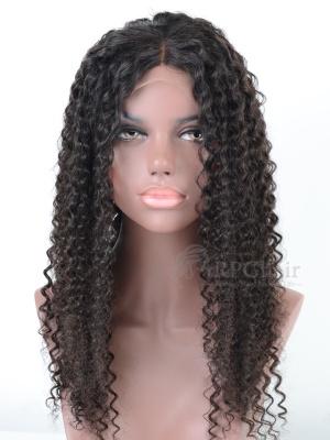 Water Wave Virgin Brazilian Hair Glueless Lace Front Wigs