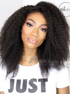 Teyana Taylor Curly Hair Style Indian Remy Hair Glueless Lace Front Wigs